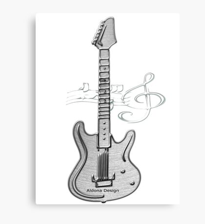 Guitar ( 252 Views) Metal Print