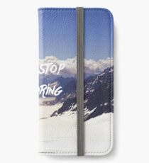 Never Stop Exploring iPhone Wallet