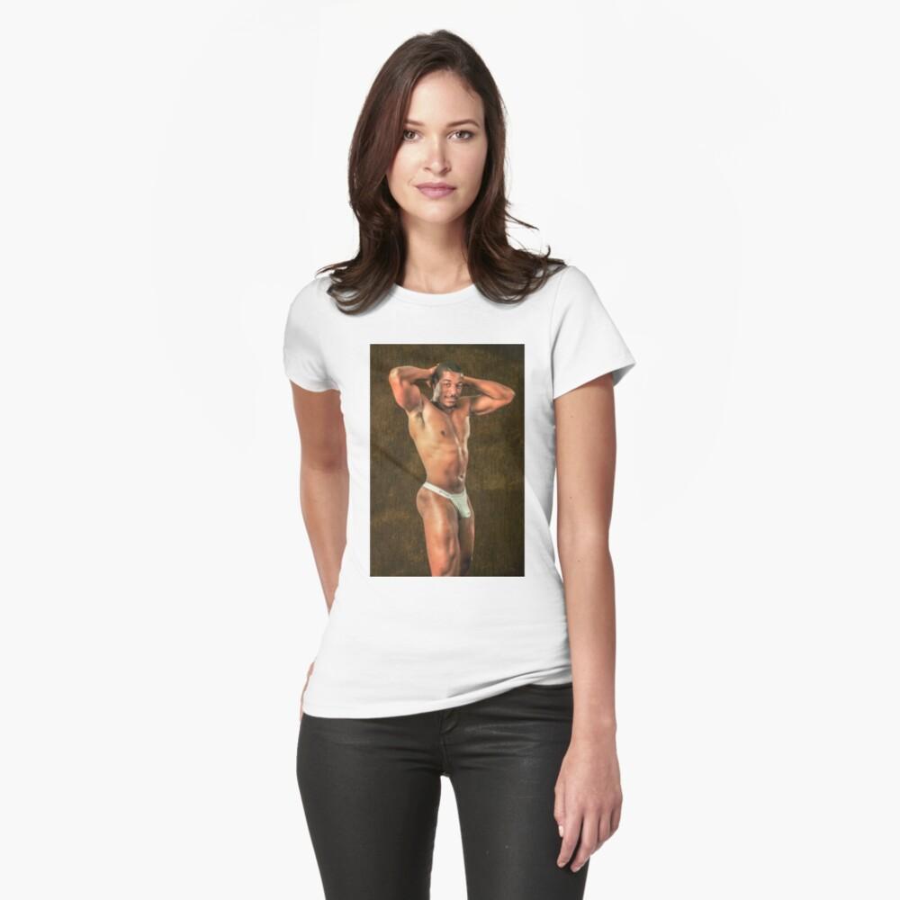 Dick und sexy Tailliertes T-Shirt