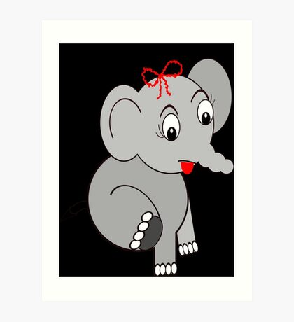 Elephant (3913 Views) Art Print