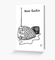 Ham Radio (BW) Greeting Card