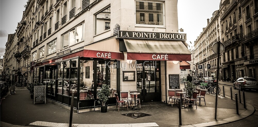 Cafe, Paris France by Kelly McGill