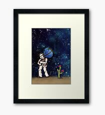 Weight of the World on His Shoulders, Too Framed Print