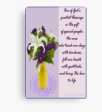 Flowers in a vase (6491  views) Canvas Print