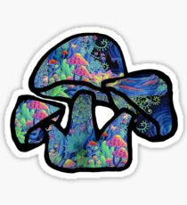 Mushrooms on mushrooms Sticker