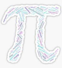 Pi: Maths Word Cloud 3 Sticker
