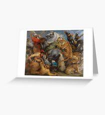 The Tiger Hunt , Peter Paul Rubens Greeting Card