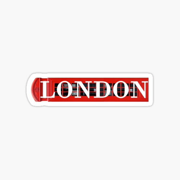 """""""London"""" Phone Booth Graphic Sticker"""