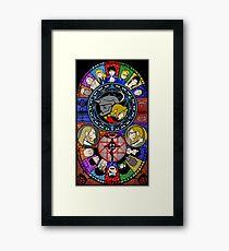 Fullmetal Alchemist Stained Glass Framed Print