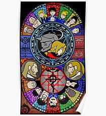 Fullmetal Alchemist Stained Glass Poster