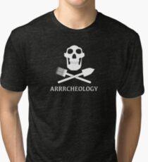Australopithecus Arrrcheology Tri-blend T-Shirt