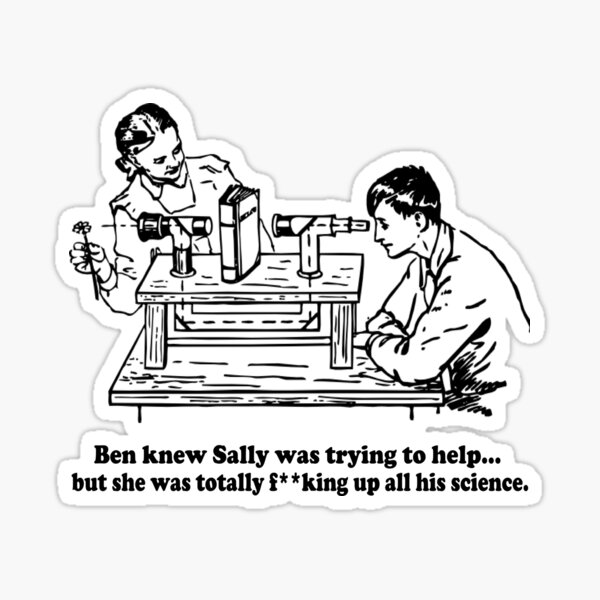 Sally Can't Science Sticker