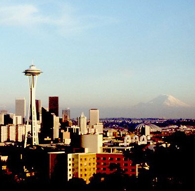 Seattle Center from Queen Anne Hill by linrobinson