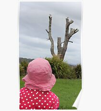 Baby & the Bird Tree Poster