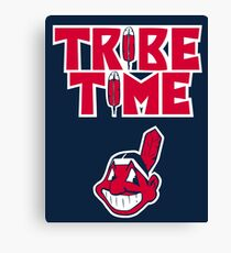 Cleveland Indians Tribe Time Chief Wahoo Canvas Print