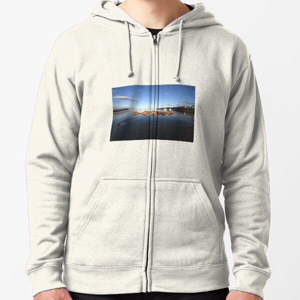 Great Oyster Bay, Coles Bay. Zipped Hoodie