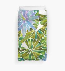Water Lilies – Lavender & Green Palette Duvet Cover