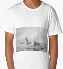 Thomas Sewell Robins, A fishing smack entering harbour,  Long T-Shirt