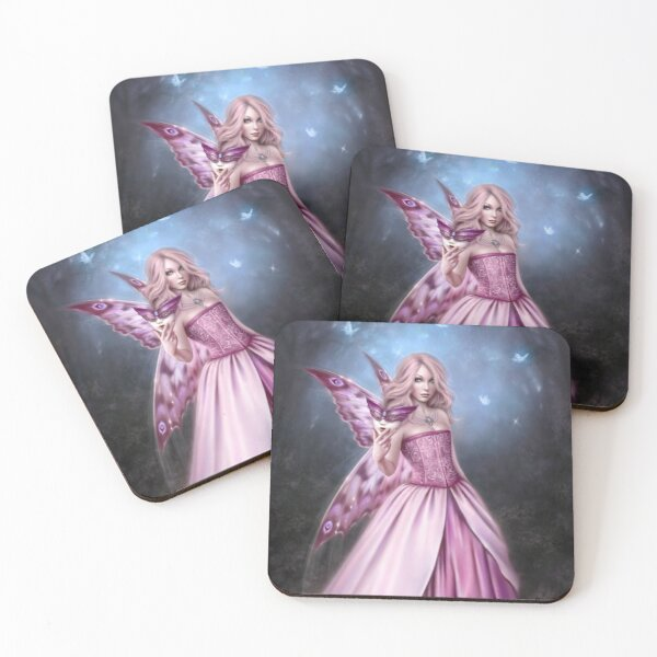 Titania Butterfly Fairy Queen Coasters (Set of 4)