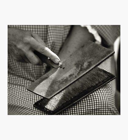 Carding Cotton Photographic Print