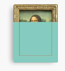 Mona Lisa blue  Canvas Print