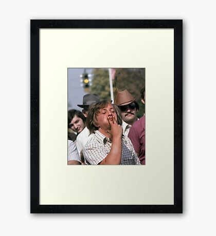 Tobacco Spitting Contest Framed Print