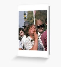 Tobacco Spitting Contest Greeting Card
