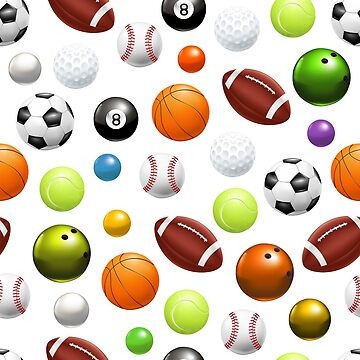 All Over Sports Balls by Jandsgraphics