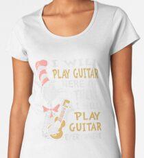 DR SEUSS GUITAR LOVERS Women's Premium T-Shirt