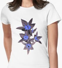 oriental flowers Womens Fitted T-Shirt