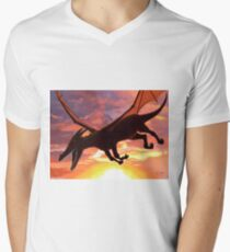 Soaring - Dragon Illustration V-Neck T-Shirt