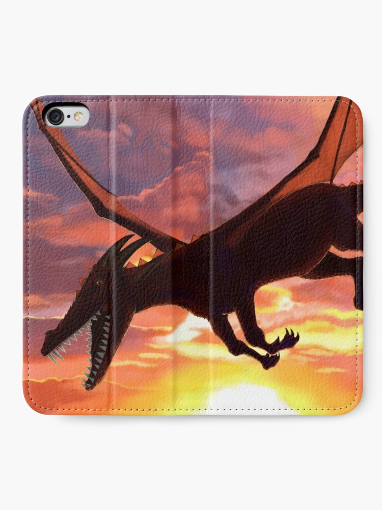Alternate view of Soaring - Dragon Illustration iPhone Wallet