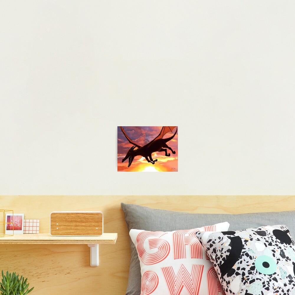Soaring - Dragon Illustration Photographic Print