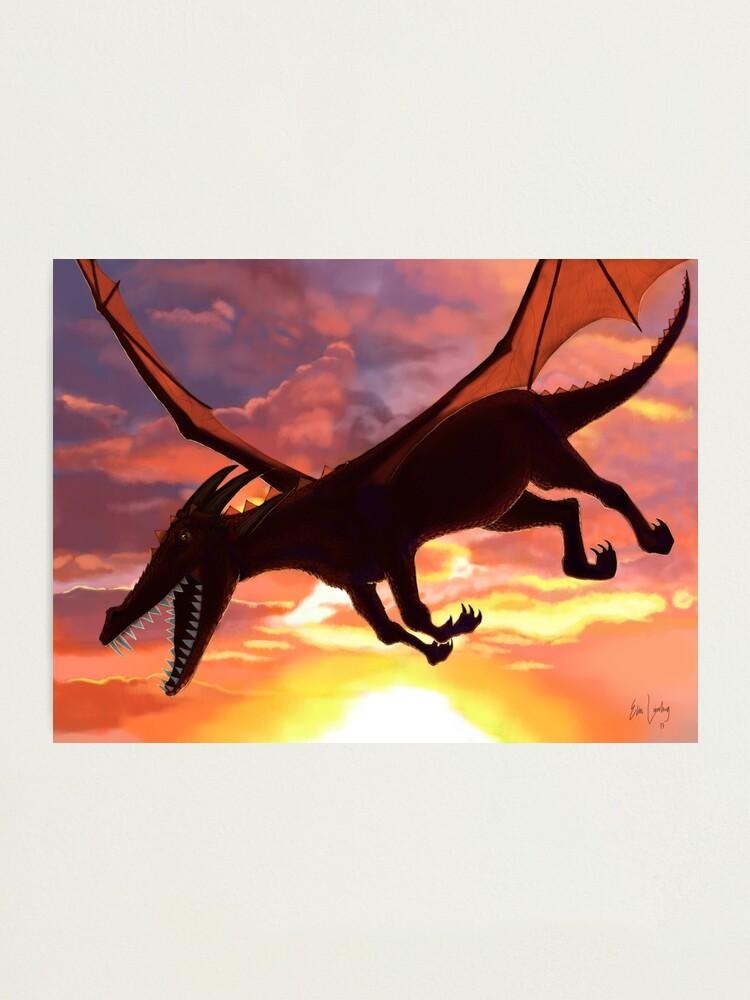 Alternate view of Soaring - Dragon Illustration Photographic Print