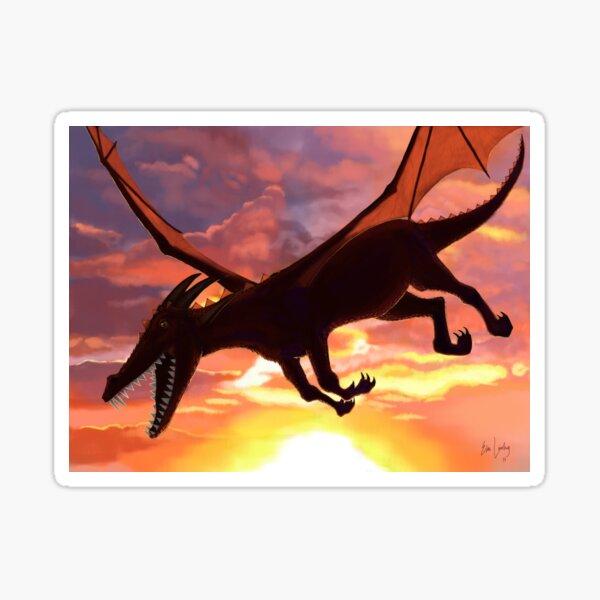 Soaring - Dragon Illustration Sticker