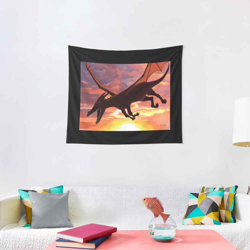 Soaring - Dragon Illustration Tapestry
