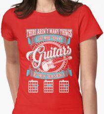 GUITAR SHIRT - BEING A DAD GUITARIST Womens Fitted T-Shirt