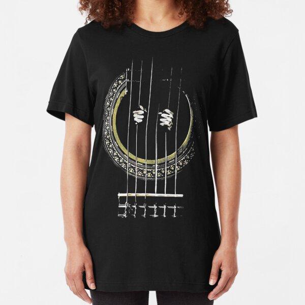 GUITAR SHIRT GUITAR PRISONER Slim Fit T-Shirt