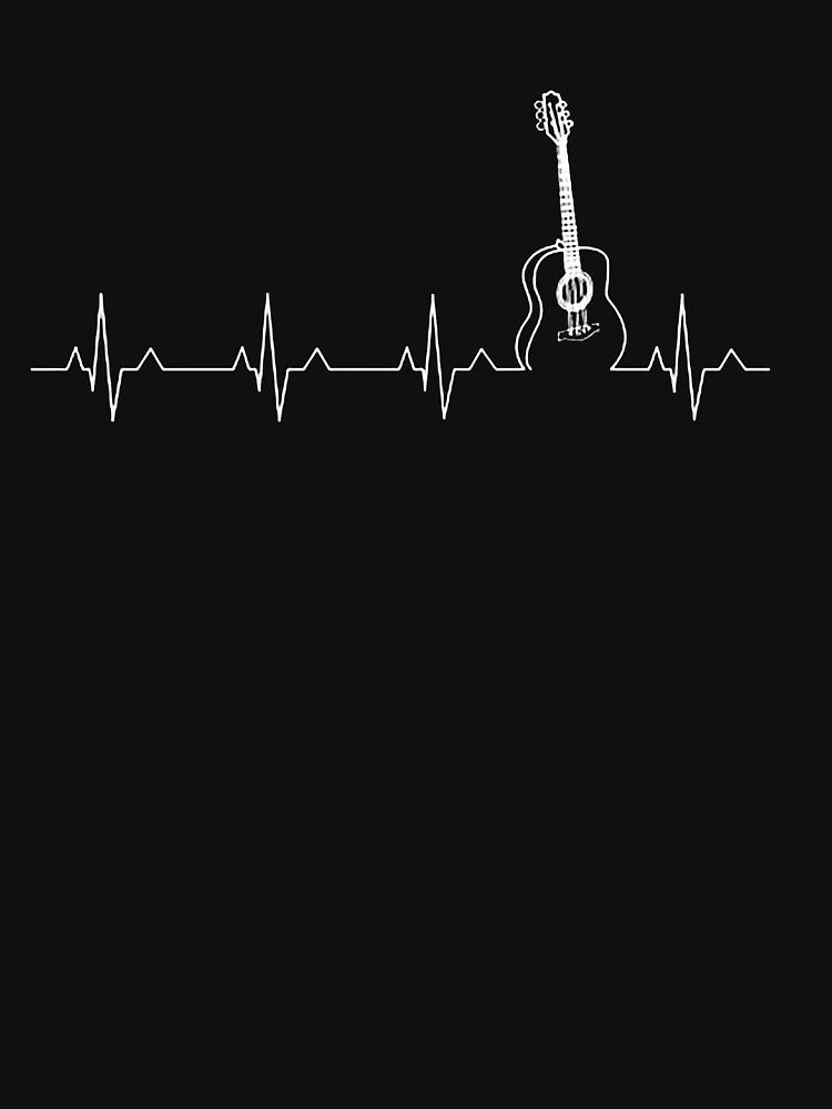 GUITAR SHIRTGUITAR HEART BEAT SHIRT by Fantasticguitar