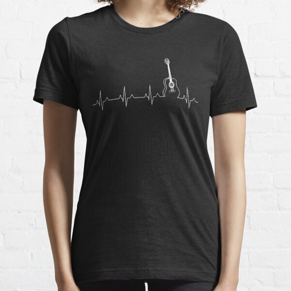 GUITAR SHIRTGUITAR HEART BEAT SHIRT Essential T-Shirt