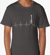 GUITAR SHIRTGUITAR HEART BEAT SHIRT Long T-Shirt