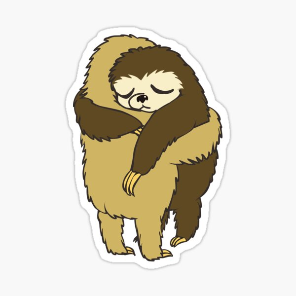 Sloth Hugs Sticker