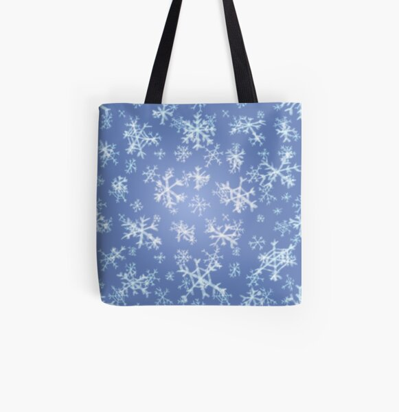 Snowflakes! All Over Print Tote Bag