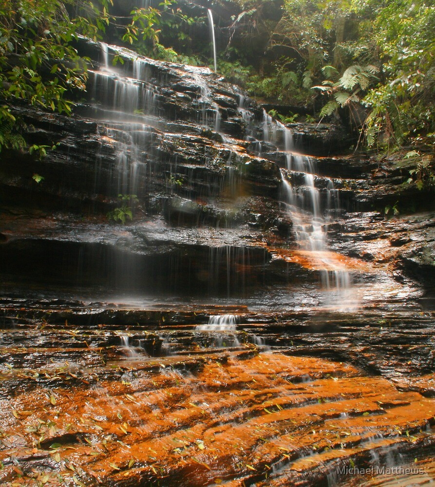 Junction Falls in the Blue Mountains by Michael Matthews