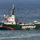 Greenpeace Comes To Lyme, Dorset.UK by lynn carter