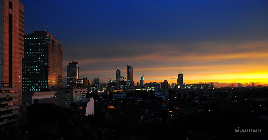 Another sunset in Jakarta by siparman