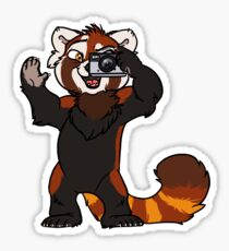 Red Panda Photographer Sticker