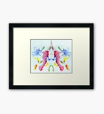 Psychology, Inkblot test, tenth blot, Rorschach, inkblot test Framed Print