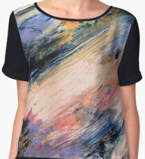 Stormy Sunset Abstract Chiffon Top