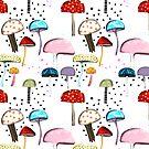 Mushrooms Ruth Fitta-Schulz Pattern Wonderland  by rupydetequila